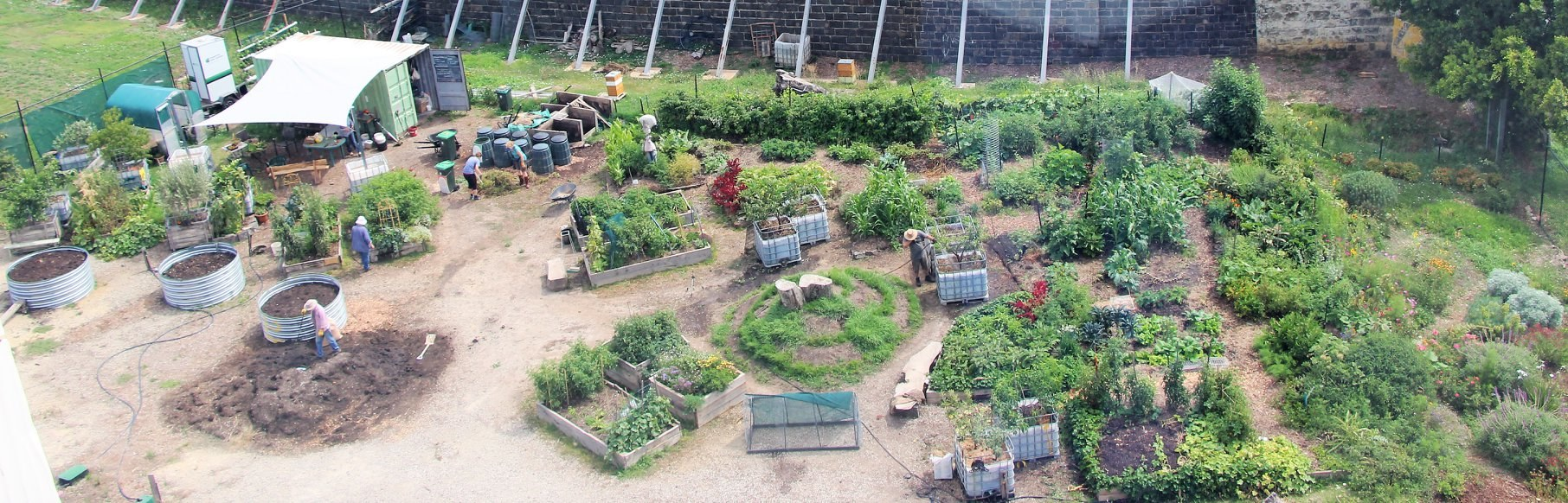 Bird's eye view of Pentridge Community Garden