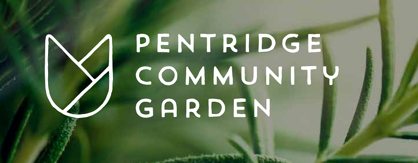 Pentridge Community Garden header with logo