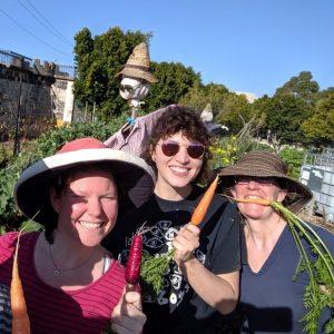 Gardening members at Pentridge