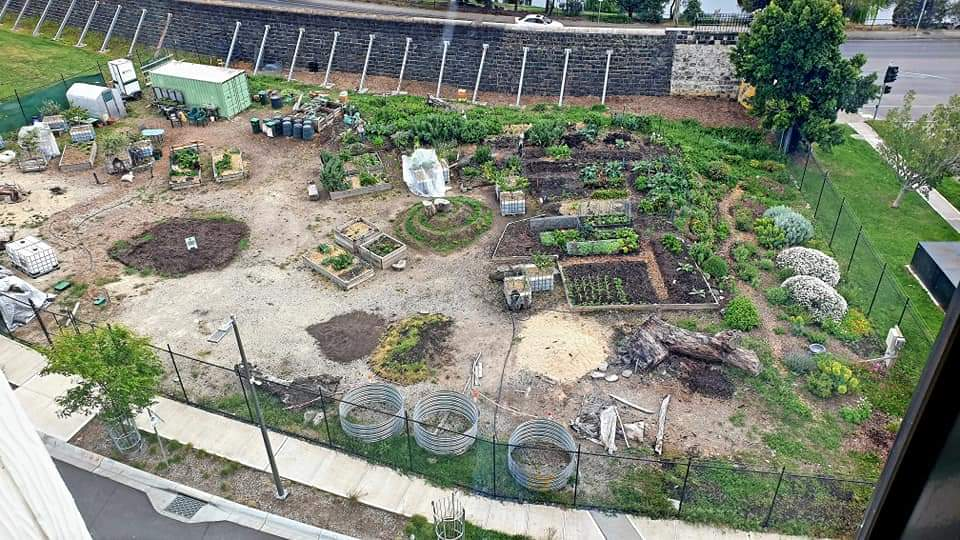 Pentridge Community Garden bird's eye view